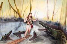 Russian Museum of Optical Illusions: crocodiles attacking a girl