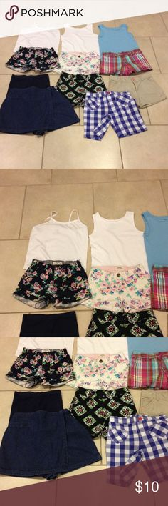Bundle 6-6x good condition Bundle 6-6x (3)tshirts Hanes and Fruit of the Loom(7) shorts Gymboree and Oshkosh and Carter and Jumping bean and Crazy 8 and Cherokee and Chyistie Brooks skort good condition Other