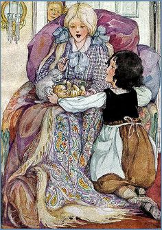 Vintage Heidi Illustration--Anne Anderson--Clara