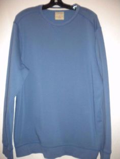 Sonoma Size XL Cotton Blend Sage Blue Crew Neck Long Sleeve Mens Sweatshirt #Sonoma #SweatshirtCrew