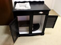 Potato Chip Cats: DIY Cat Station (Craft Post!) - enclosed but airy litter box furniture