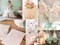 {blush and mint} soft, romantic, and feminine blush and mint wedding inspiration http://burnettsboards.com/2012/10/blush-mint/