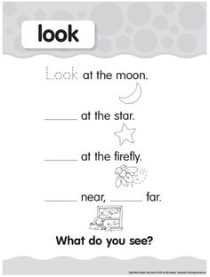 Pre-primer Sight Words: look Printable