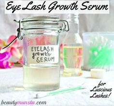Make an use your own natural eyelash growth serum because what's the point in using store-bought eyelash growth serums if they have unimaginable side effects like permanent eye discoloration and vision loss?!