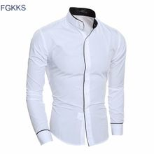 US $8.99 FGKKS New Arrival Casual Shirt Men Brand-Clothing Autumn Fashion Long Sleeve Tuexdo Shirt Male 3 Colors Men Shirts Free Shipping. Aliexpress product