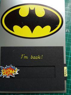 Bat man masculine card