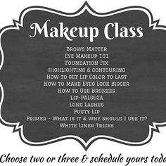 Let's have a makeup class!