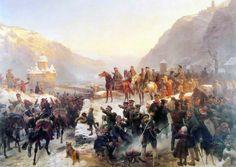 Blucher's Prussians cross the Rhine River, January 1814