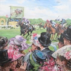 Oil, The Winning Post. By Gordon King.