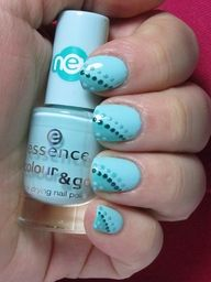 Dotted dual tone nails