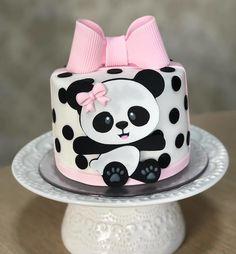 Pandas are ♡ Forever Panda Birthday Cake, Unique Birthday Cakes, Baby Birthday Cakes, Baby Shower Cakes, Tortas Baby Shower Niña, Panda Themed Party, Panda Party, Bolo Panda, Panda Baby Showers