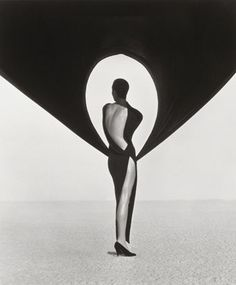 Versace Dress, Back View, El Mirage, 1990. Photo by the late Herb Ritts, one of the most amazing fashion photographers ever...