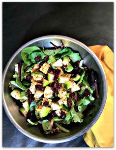 Sweet and Savory: Cranberry Pear Walnut Avocado Spinach Salad