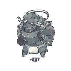Alphonse Elric from Fullmetal Alchemist, Jr Pencil Dc Anime, Anime Chibi, Manga Anime, Anime Art, Cartoon Drawings, Art Drawings, Character Art, Character Design, Alphonse Elric