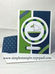 Super Cute Baby Boy Card...Moving Forward Stamp Set! - Stampin' Up!