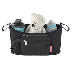 Stroller Organizer Caddy Bag w/ Detachable Pouch for Baby Toddlers Extras by Smart Strolls - http://activelivingessentials.com/baby-essentials/baby-strollers/stroller-organizer-caddy-bag-w-detachable-pouch-for-baby-toddlers-extras-by-smart-strolls