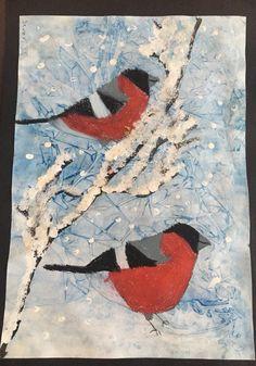Christmas Art For Kids, January Crafts, Winter Art Projects, 4th Grade Art, Winter Painting, Expressive Art, Science Art, Art Plastique, Elementary Art