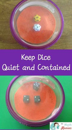 A quick and easy DIY to make dice easier to use in your classroom.