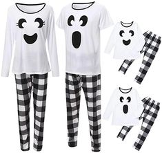 Ghost Matching Family Halloween Pajama SetS Halloween Pajamas, Family Halloween Costumes, Halloween Shirt, Shirts & Tops, Family Outfits, Cool Outfits, Family Clothes, Matching Family Pajamas, Holiday Tops