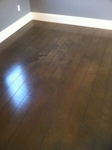 DIY UNFINISHED BASEMENT  Stained Concrete floor... wood~look.