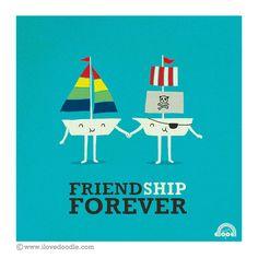 FriendShip Forever! by ILoveDoodle, via Flickr