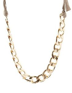Chunky Chain & Ribbon Necklace