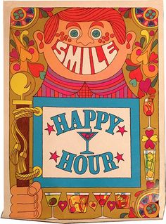 1970s Southern Comfort 'Happy Hour' illustration