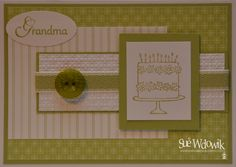 Happy Birthday Grandma Card handmade by Sue Wdowik - Independent Stampin' Up! Demonstrator. www.nighnighbirdie.blogspot.com Purchase cards from my Madeit Store: www.madeit.com.au/NighNighBirdie