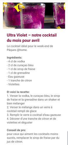 Vodka, Cocktail, Liqueurs, Vegetables, Food, Strawberry Syrup, Lemon Slice, Recipe, Essen