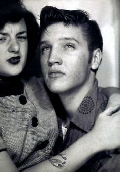 Elvis in a photobooth 1950s