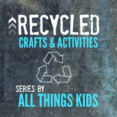 15 Recycled Crafts & Activities (from Crayon Box Chronicles) Recycled Crayons, Crafts From Recycled Materials, Recycled Crafts Kids, Recycled Art Projects, Projects For Kids, Recycle Crafts, Craft Activities For Kids, Therapy Activities, Crafts For Kids
