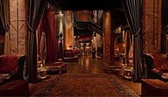 The Edison (Los Angeles, CA) - Keeping the mad science aesthetic of the original building and updating it with influences from Gothic to Nouveau, it's like walking into a weird, hallucinogenic room from a Kubrick movie, complete with burlesque performances, big bands, and a gigantic bar. You'll want to stay and play forever.