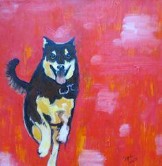 commission oil on canvas, dog running Dog Runs, Oil On Canvas, Original Art, Running, Dogs, Painting, Keep Running, Pet Dogs, Painting Art
