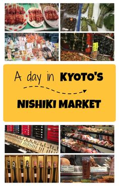 If you love food while you travel to Kyoto, you'll want to visit the Nishiki Market for sushi and other Japanese cuisine