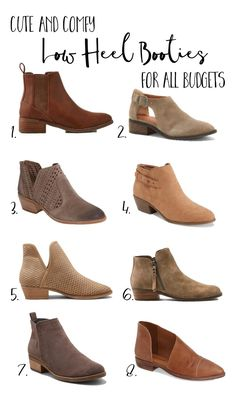 CottonStem.com best low heel flat booties comfortable fall fashion