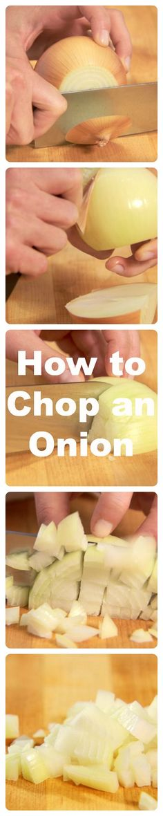 Follow these simple steps to chop an onion