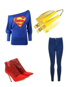 """""""superman"""" by mjhawkins1983 on Polyvore featuring Moschino and Jimmy Choo"""