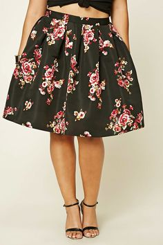 b223c4be3b8 Forever 21+ - A woven knee-length skirt featuring allover pleating