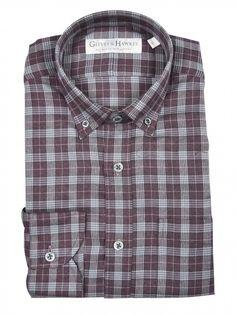 Plum Brushed Glencheck Shirt