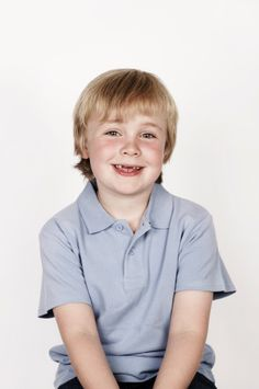 Portrait Of Boy Smiling To Camera Stock Photo 107072595