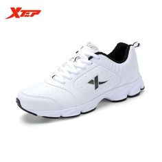 51a62926265 XTEP Brand Light Running Shoes Men Leather Rubber Sneakers Athletic Sports  Shoes Outdoor Light Running Shoes
