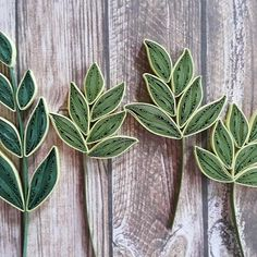 quilled leaves