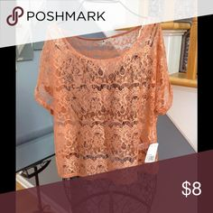 XXI Lace Top NWT Lace top with short sleeves.  Brand new! XXI Forever Tops