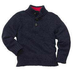 Mock-Neck Sweater.. great school uniform sweater