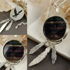 Eagle and fluorite necklace