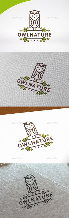 Owl Nature Logo Template #design #logotype Download: http://graphicriver.net/item/owl-nature-logo-template/13139154?ref=ksioks