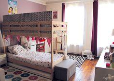 Séparer une chambre pour 2 enfants avec un lit superposé - Momes.net