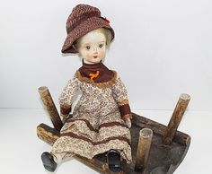 Vintage Walda Doll Bisque Doll Porcelain Doll by BrensanVintage