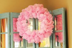 Recently, I saw a deco mesh wreath that had the mesh attached in such a fun and fluffy way that I inspected it to see how it was d. Mesh Ribbon Wreaths, Christmas Mesh Wreaths, Tulle Wreath, Deco Mesh Wreaths, Spring Wreaths, Seashell Wreath, Yarn Wreaths, Winter Wreaths, Floral Wreaths