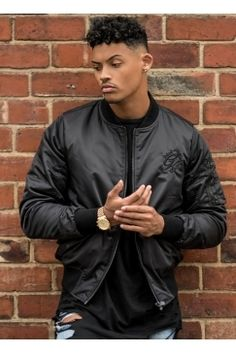 Gym King - Stealth Bomber Jacket – Black | Gym King does it again! This bomber jacket is a classic that needs to be in your wardrobe. Shop now @ Urban Celebrity!